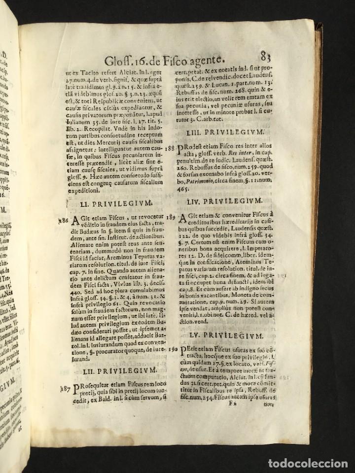 Libros antiguos: 1639 Derecho Indiano - fiscal - América - Alfaro, Francisco de - Tractatus de officio fiscalis - Foto 19 - 224631223