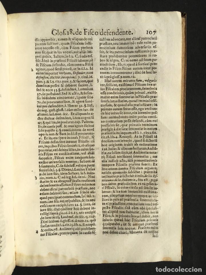 Libros antiguos: 1639 Derecho Indiano - fiscal - América - Alfaro, Francisco de - Tractatus de officio fiscalis - Foto 21 - 224631223
