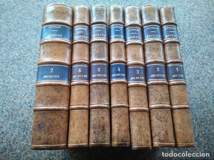 DIGESTO - PRINCIPIOS DOCTRINA Y JURISPRUDENCIA - RICARDO OYUELOS -- MADRID 1917 / 1932 -- (Libros Antiguos, Raros y Curiosos - Ciencias, Manuales y Oficios - Derecho, Economía y Comercio)