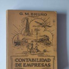 Libros antiguos: CONTABILIDAD DE EMPRESAS BRUÑO 1ª EDICION 1931. Lote 224737026
