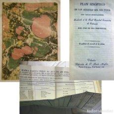 Libros antiguos: PLAN SINOPTICO DE LAS ACEQUIAS DEL RIO TURIA. REAL SOCIEDAD ECONOMICA DE VALENCIA. 1828. Lote 225003685