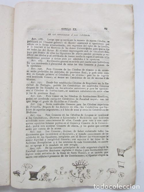 Libros antiguos: Real Cédula de S. M. y Señores del Consejo, por la cual se manda observar en todas las Universidades - Foto 3 - 225944603