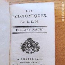 Libros antiguos: LES ÉCONOMIQUES. PAR L.D.H. MIRABEAU, VICTOR DE RIQUETTI, MARQUIS DE.]LACOMBE, 1769 (1769) RARE. Lote 226048075