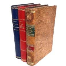 Libros antiguos: 1896 - DERECHO CIVIL - LOTE DE 3 LIBROS ANTIGUOS - LEYES, LEGISLACIÓN - ENCUADERNACIONES, PIEL. Lote 226785050