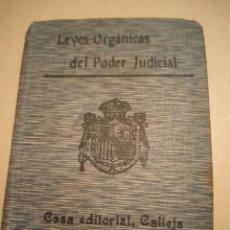 Livros antigos: LEY ORGÁNICA DEL PODER JUDICIAL BIBLIOTECA DE DERECHO SATURNINO CALLEJA. Lote 229598385