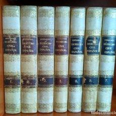Libros antiguos: CODIGOS O ESTUDIOS FUNDAMENTALES SOBRE EL DEERECHO CIVIL ESPAÑOL. DR. D. BENITO GUTIERREZ FERNANDEZ. Lote 231024140