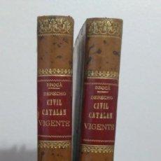 Libros antiguos: INSTITUCIONES DEL DERECHO CIVIL CATALAN VIGENTE. D. GUILLERMO Mª. DE BROCA Y MONTAGUT, D.JUAN AMELL. Lote 231062905