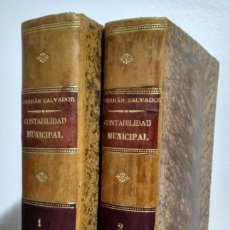 Libros antiguos: CONTABILIDAD MUNICIPAL POR PARTIDA DOBLE. FEDERICO A. FERRÁN SALVADOR. Lote 231085855