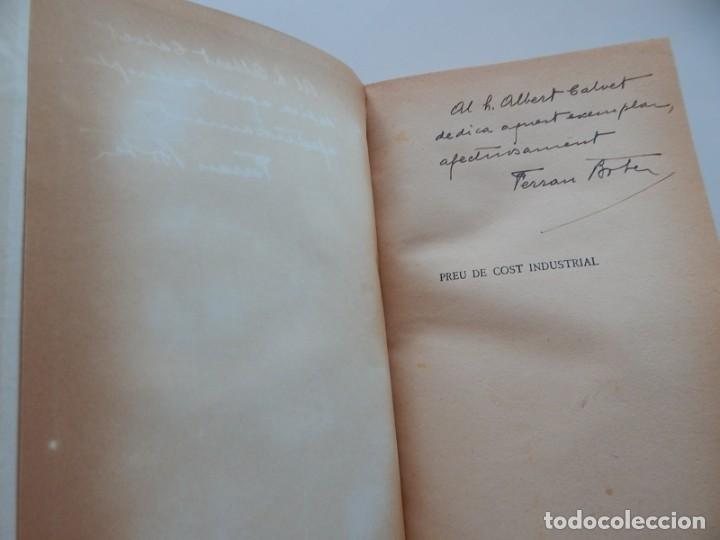 Libros antiguos: Preu de cost industrial - Ferran Boter Maurí / 1934 1ª edició - Dedicatoria manuscrita del autor - Foto 5 - 231171905
