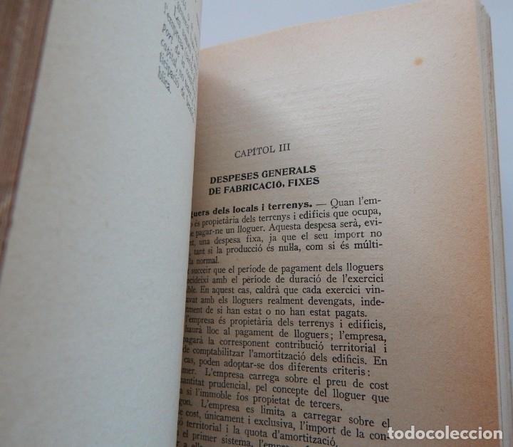 Libros antiguos: Preu de cost industrial - Ferran Boter Maurí / 1934 1ª edició - Dedicatoria manuscrita del autor - Foto 7 - 231171905