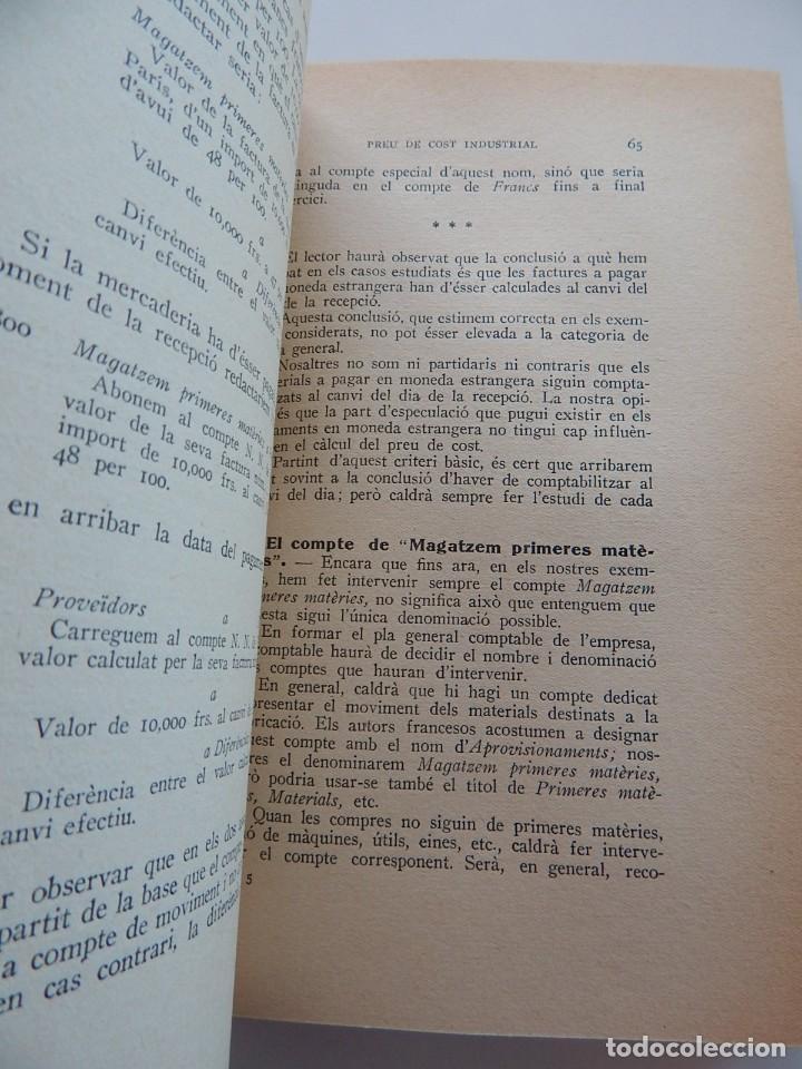 Libros antiguos: Preu de cost industrial - Ferran Boter Maurí / 1934 1ª edició - Dedicatoria manuscrita del autor - Foto 9 - 231171905