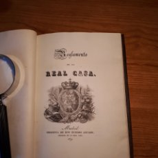 Libros antiguos: REGLAMENTO DE LA REAL CASA. EDITADO EN MADRID POR IMPRENTA DE DON EUSEBIO AGUADO 1829.. Lote 231947455