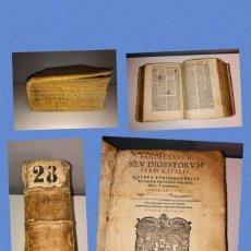 Libros antiguos: AÑO 1574 - PANDECTARUM SEV DIGESTORUM IURIS CIVILIS - TOMUS TERTIUS - DIGESTUM NOVUM VULGO APPELLANT. Lote 232240545