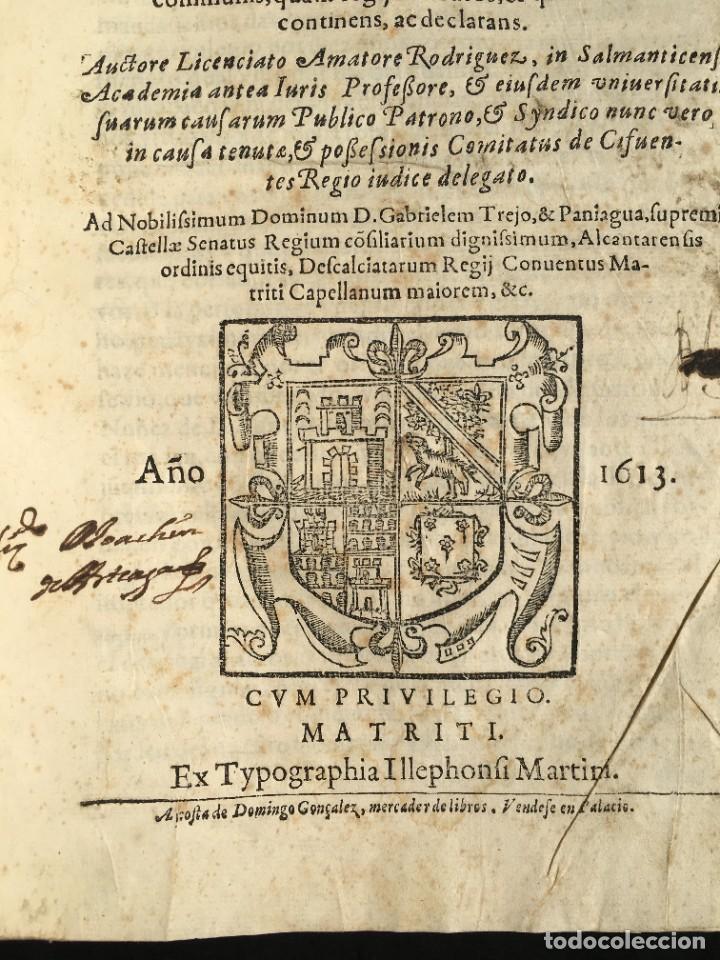Libros antiguos: Año 1613 - Tractatus de executione sententiae - Amador Rodríguez - Salamanca - Derecho - Pergamino - - Foto 3 - 233550335