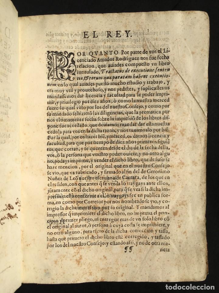 Libros antiguos: Año 1613 - Tractatus de executione sententiae - Amador Rodríguez - Salamanca - Derecho - Pergamino - - Foto 4 - 233550335