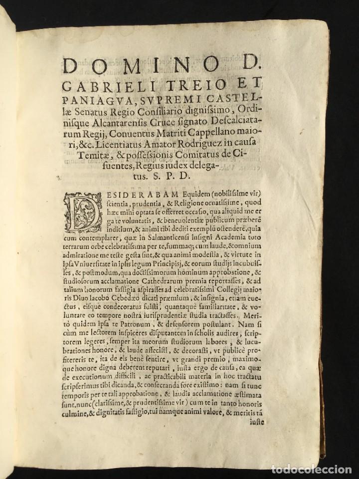 Libros antiguos: Año 1613 - Tractatus de executione sententiae - Amador Rodríguez - Salamanca - Derecho - Pergamino - - Foto 5 - 233550335