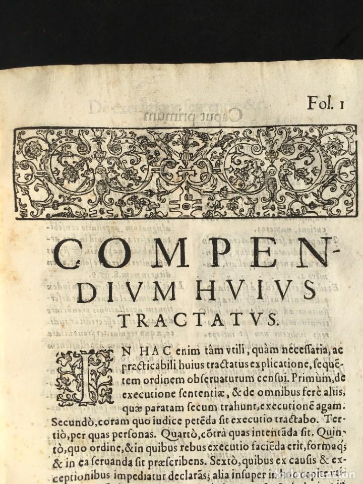Libros antiguos: Año 1613 - Tractatus de executione sententiae - Amador Rodríguez - Salamanca - Derecho - Pergamino - - Foto 7 - 233550335