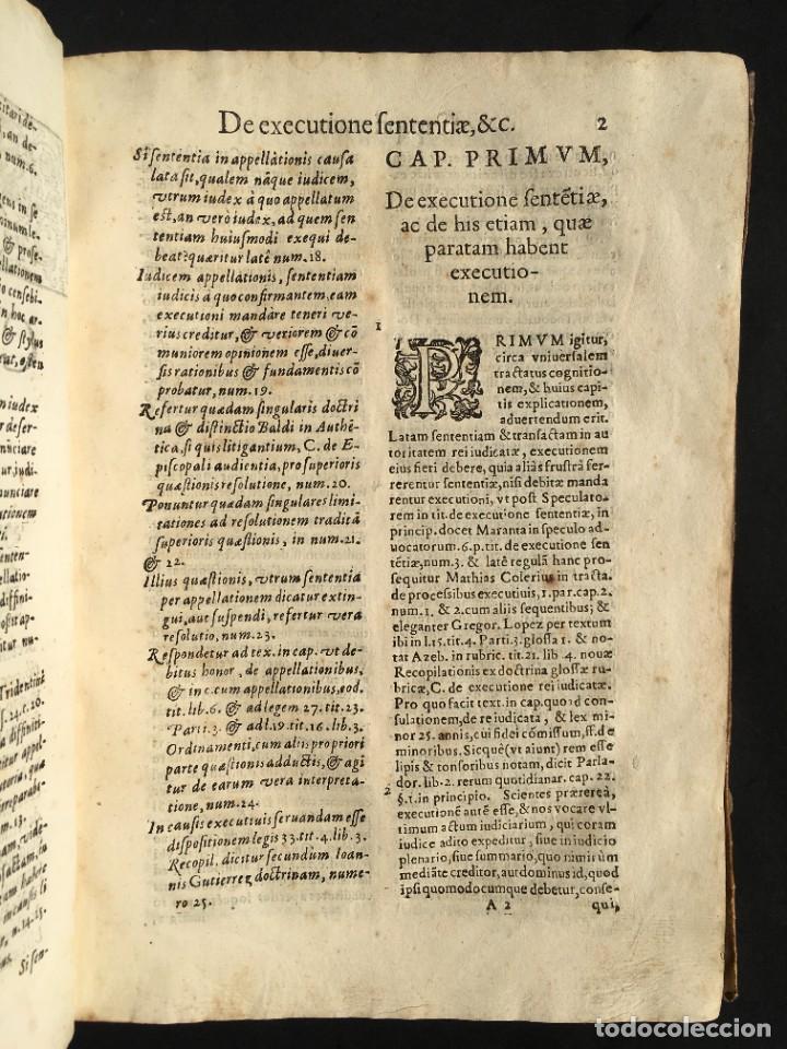 Libros antiguos: Año 1613 - Tractatus de executione sententiae - Amador Rodríguez - Salamanca - Derecho - Pergamino - - Foto 8 - 233550335