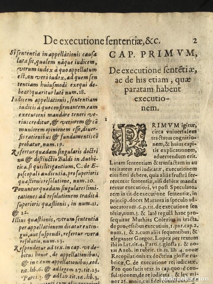 Libros antiguos: Año 1613 - Tractatus de executione sententiae - Amador Rodríguez - Salamanca - Derecho - Pergamino - - Foto 9 - 233550335