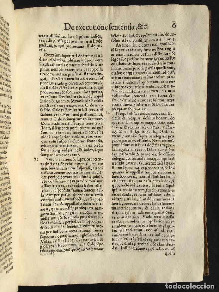 Libros antiguos: Año 1613 - Tractatus de executione sententiae - Amador Rodríguez - Salamanca - Derecho - Pergamino - - Foto 10 - 233550335