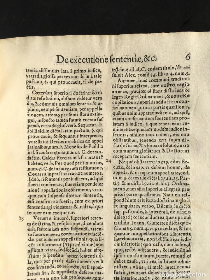 Libros antiguos: Año 1613 - Tractatus de executione sententiae - Amador Rodríguez - Salamanca - Derecho - Pergamino - - Foto 11 - 233550335