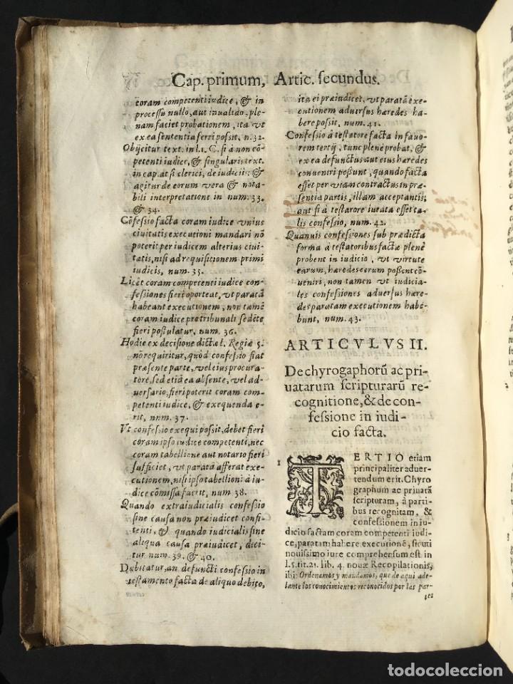 Libros antiguos: Año 1613 - Tractatus de executione sententiae - Amador Rodríguez - Salamanca - Derecho - Pergamino - - Foto 13 - 233550335