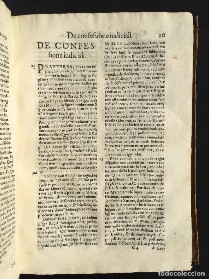 Libros antiguos: Año 1613 - Tractatus de executione sententiae - Amador Rodríguez - Salamanca - Derecho - Pergamino - - Foto 16 - 233550335