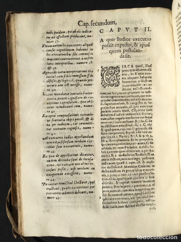 Libros antiguos: Año 1613 - Tractatus de executione sententiae - Amador Rodríguez - Salamanca - Derecho - Pergamino - - Foto 19 - 233550335