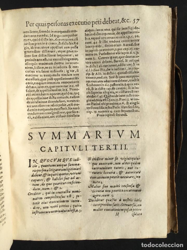 Libros antiguos: Año 1613 - Tractatus de executione sententiae - Amador Rodríguez - Salamanca - Derecho - Pergamino - - Foto 20 - 233550335
