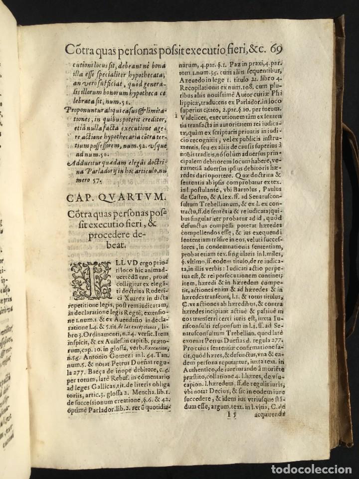 Libros antiguos: Año 1613 - Tractatus de executione sententiae - Amador Rodríguez - Salamanca - Derecho - Pergamino - - Foto 21 - 233550335
