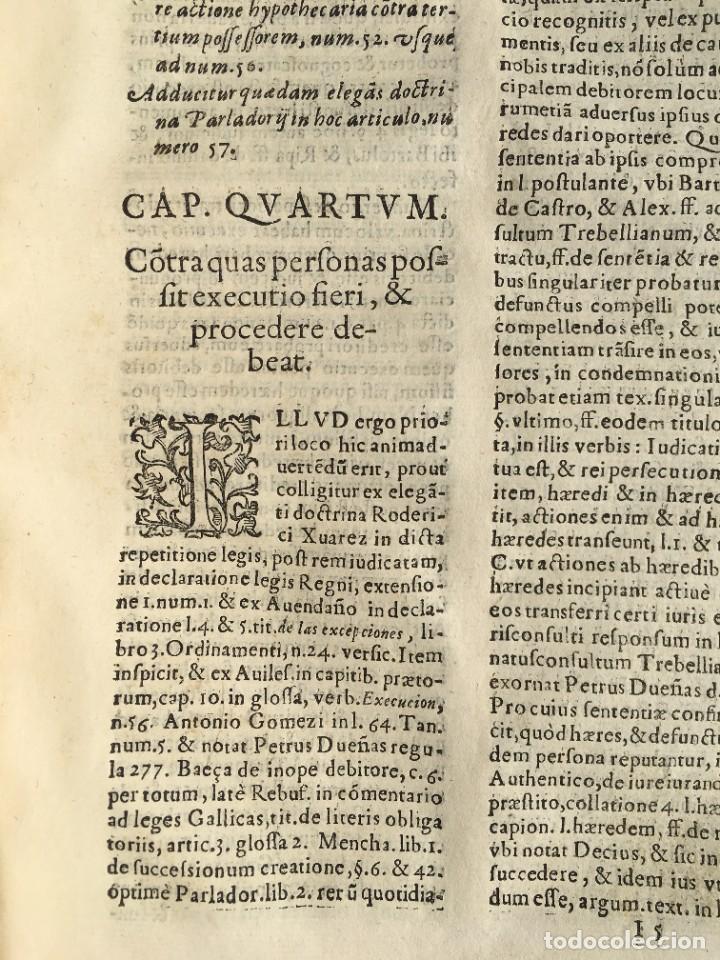 Libros antiguos: Año 1613 - Tractatus de executione sententiae - Amador Rodríguez - Salamanca - Derecho - Pergamino - - Foto 22 - 233550335