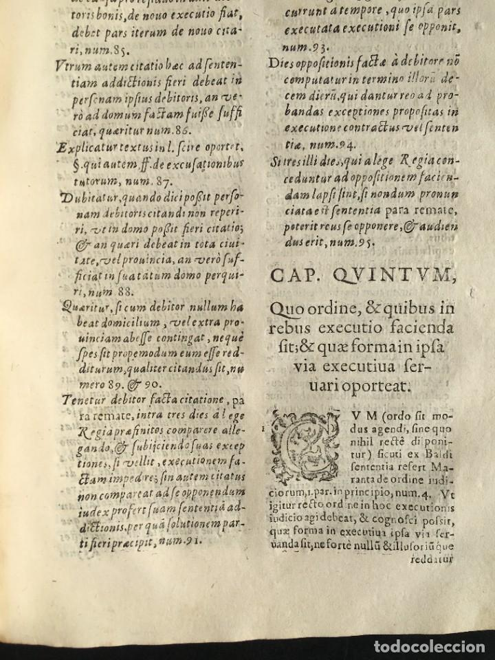 Libros antiguos: Año 1613 - Tractatus de executione sententiae - Amador Rodríguez - Salamanca - Derecho - Pergamino - - Foto 23 - 233550335