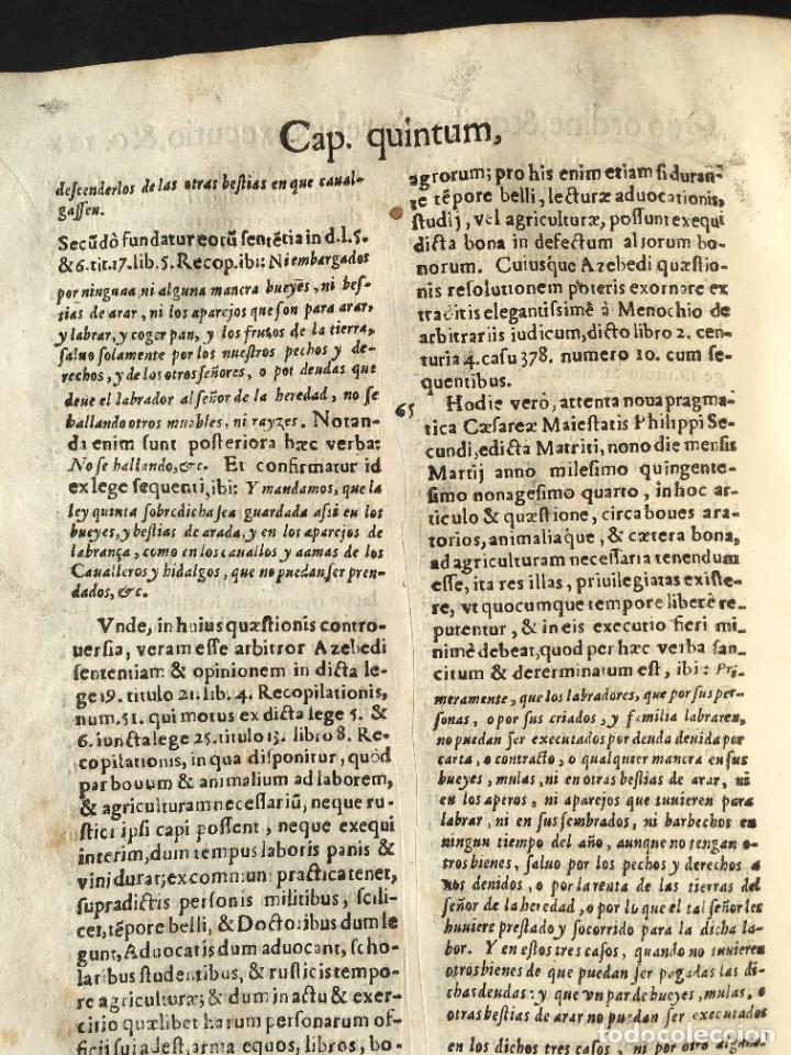 Libros antiguos: Año 1613 - Tractatus de executione sententiae - Amador Rodríguez - Salamanca - Derecho - Pergamino - - Foto 24 - 233550335