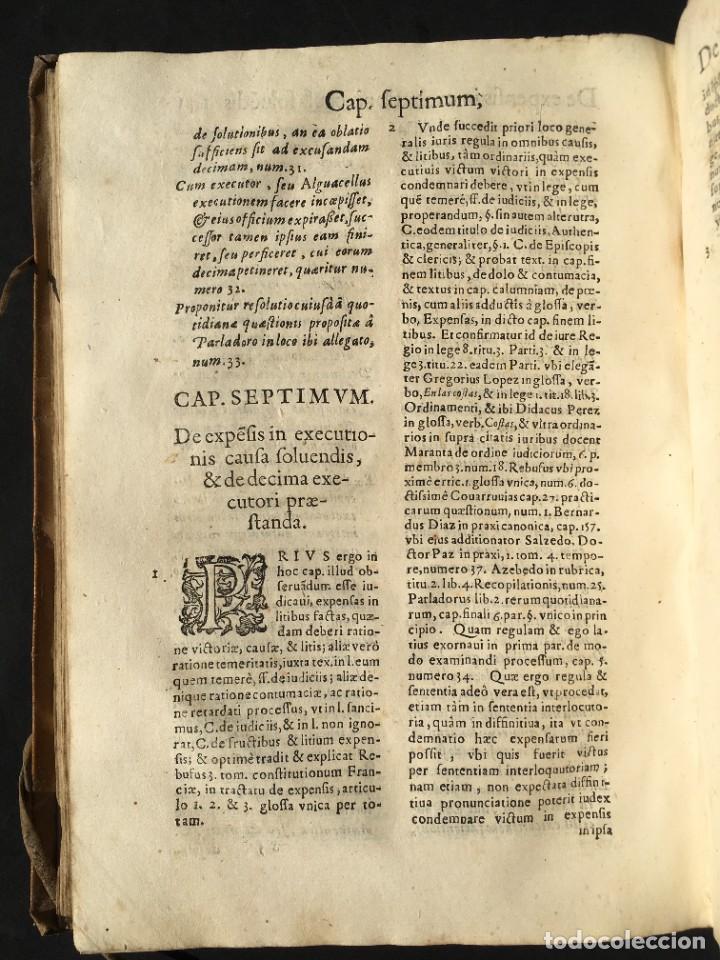 Libros antiguos: Año 1613 - Tractatus de executione sententiae - Amador Rodríguez - Salamanca - Derecho - Pergamino - - Foto 25 - 233550335
