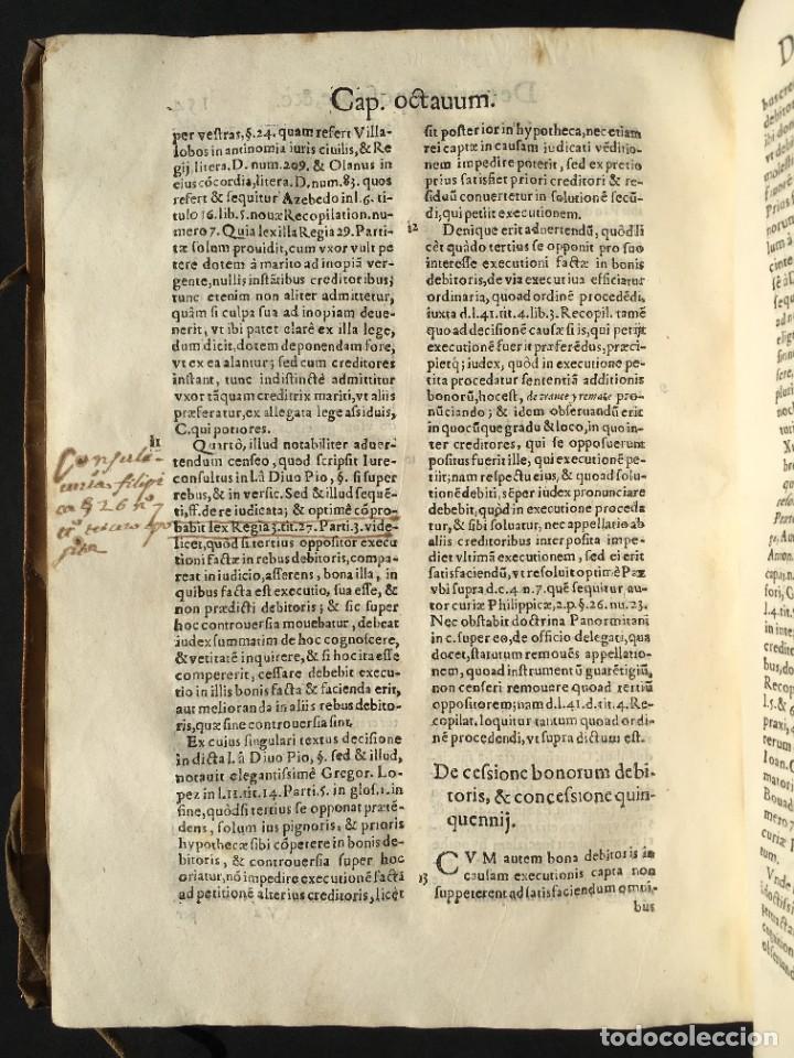 Libros antiguos: Año 1613 - Tractatus de executione sententiae - Amador Rodríguez - Salamanca - Derecho - Pergamino - - Foto 26 - 233550335