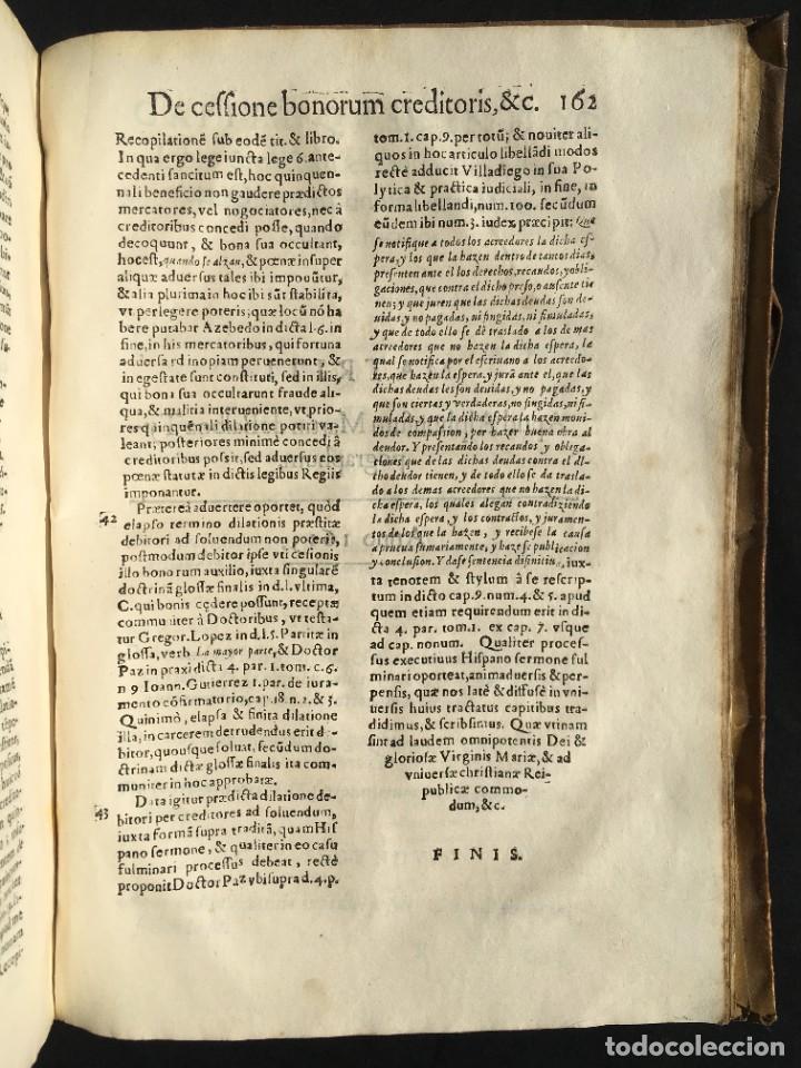 Libros antiguos: Año 1613 - Tractatus de executione sententiae - Amador Rodríguez - Salamanca - Derecho - Pergamino - - Foto 28 - 233550335