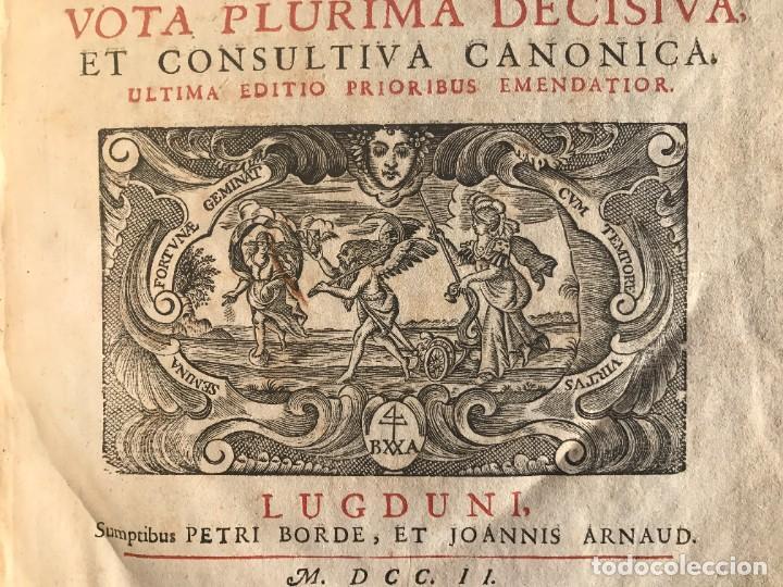 Libros antiguos: 1702 - AGUSTIN BARBOSA - PRAXIS METODICA EXIGENDI PENSIONES - DERECHO - PERGAMINO - Foto 5 - 233574270