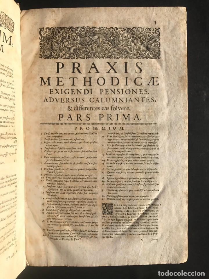Libros antiguos: 1702 - AGUSTIN BARBOSA - PRAXIS METODICA EXIGENDI PENSIONES - DERECHO - PERGAMINO - Foto 7 - 233574270