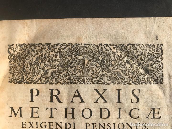 Libros antiguos: 1702 - AGUSTIN BARBOSA - PRAXIS METODICA EXIGENDI PENSIONES - DERECHO - PERGAMINO - Foto 8 - 233574270
