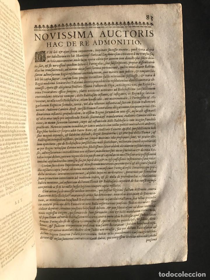 Libros antiguos: 1702 - AGUSTIN BARBOSA - PRAXIS METODICA EXIGENDI PENSIONES - DERECHO - PERGAMINO - Foto 9 - 233574270