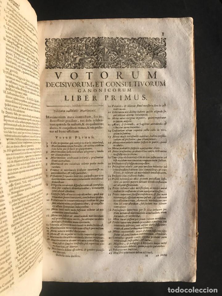 Libros antiguos: 1702 - AGUSTIN BARBOSA - PRAXIS METODICA EXIGENDI PENSIONES - DERECHO - PERGAMINO - Foto 12 - 233574270