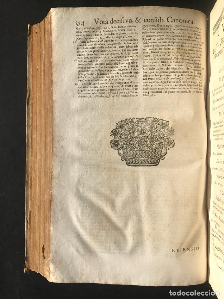 Libros antiguos: 1702 - AGUSTIN BARBOSA - PRAXIS METODICA EXIGENDI PENSIONES - DERECHO - PERGAMINO - Foto 15 - 233574270