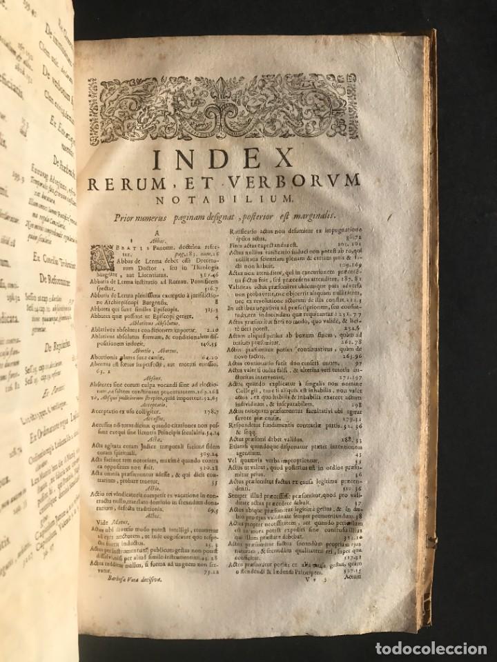 Libros antiguos: 1702 - AGUSTIN BARBOSA - PRAXIS METODICA EXIGENDI PENSIONES - DERECHO - PERGAMINO - Foto 16 - 233574270