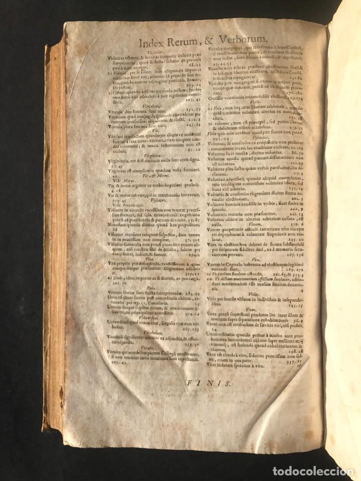 Libros antiguos: 1702 - AGUSTIN BARBOSA - PRAXIS METODICA EXIGENDI PENSIONES - DERECHO - PERGAMINO - Foto 17 - 233574270