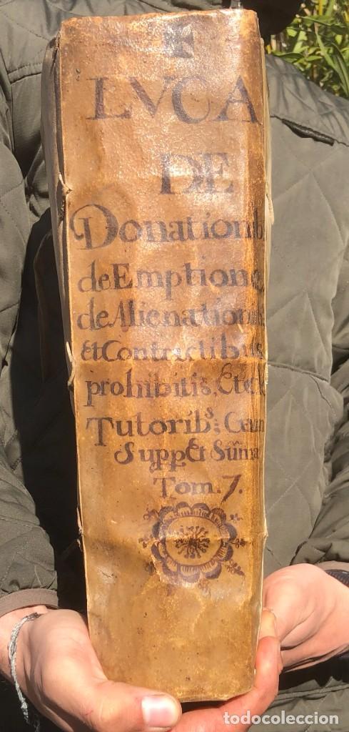 Libros antiguos: 1671 - THEATRUM VERITATIS ET IUSTITIAE - JUAN BAUTISTA DE LUCA - DERECHO - PERGAMINO - Foto 2 - 233575875