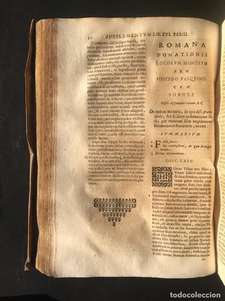 Libros antiguos: 1671 - THEATRUM VERITATIS ET IUSTITIAE - JUAN BAUTISTA DE LUCA - DERECHO - PERGAMINO - Foto 30 - 233575875