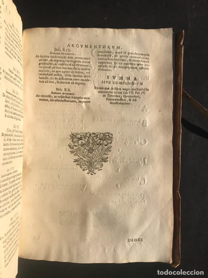 Libros antiguos: 1671 - THEATRUM VERITATIS ET IUSTITIAE - JUAN BAUTISTA DE LUCA - DERECHO - PERGAMINO - Foto 39 - 233575875