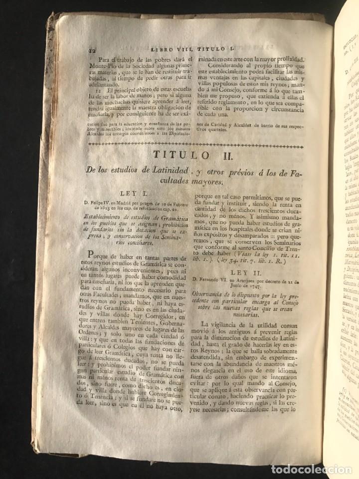 Libros antiguos: 1805 NOVISIMA RECOPILACION DE LAS LEYES DE ESPAÑA mandada por Carlos IV - pergamino Tomos IV y V. - Foto 6 - 233600770