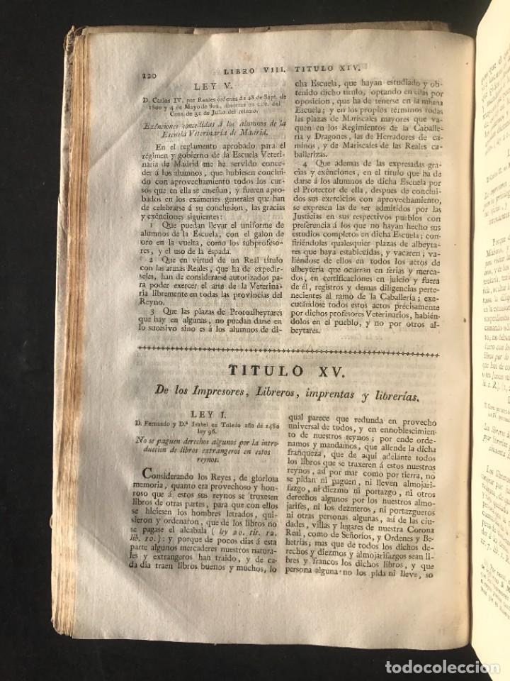 Libros antiguos: 1805 NOVISIMA RECOPILACION DE LAS LEYES DE ESPAÑA mandada por Carlos IV - pergamino Tomos IV y V. - Foto 8 - 233600770