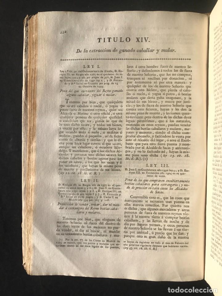 Libros antiguos: 1805 NOVISIMA RECOPILACION DE LAS LEYES DE ESPAÑA mandada por Carlos IV - pergamino Tomos IV y V. - Foto 11 - 233600770